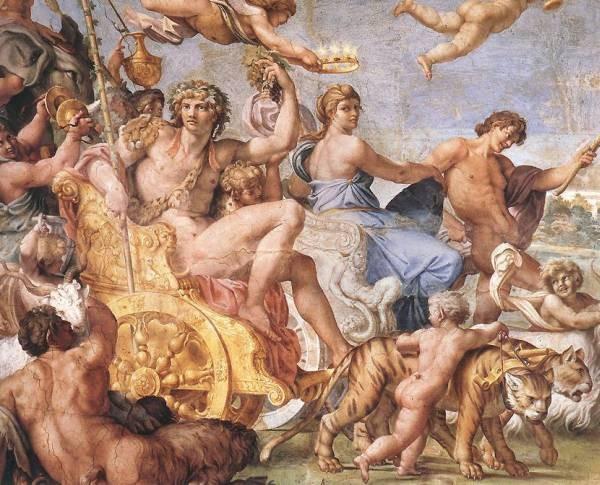 Triumph of Bacchus and Ariadne detail WGA